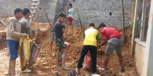 Landslip repairs at Albella
